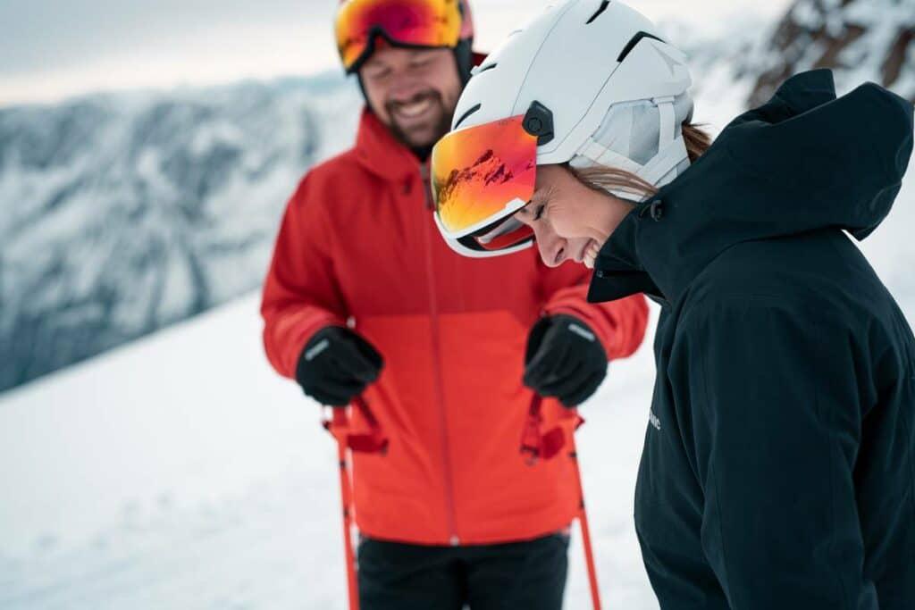 casque de ski visière